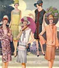 Gorgeous 1920's Drop Waist Fashions