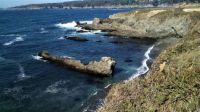 Mendocino coast shoreline