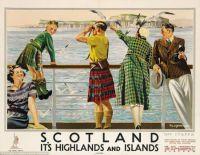 Scotland Vintage Ad Poster