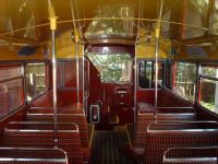 Lower deck of London Transport Routemaster Bus