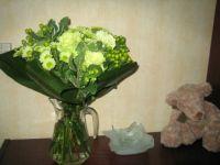 een ruiker bloemen