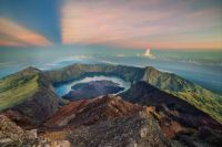 Sunrise at Mount Rinjani, Indonesia