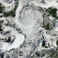 A tropical storm in the Arctic (Credit: NASA/Goddard/MODIS Rapid Response Team)