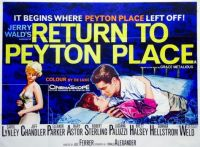 RETURN TO PEYTON PLACE - 1961 POSTER  CAROL LYNLEY, JEFF CHANDLER, ELEANOR PARKER