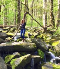 Our granddaughter Abby on a recent visit to the Smoky Mountains