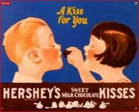 Themes Vintage ads - Hershey`s Sweet Milk Chocolate Kisses