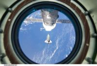 Discovery approaching ISS