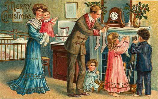 Old Time Christmas Family Card
