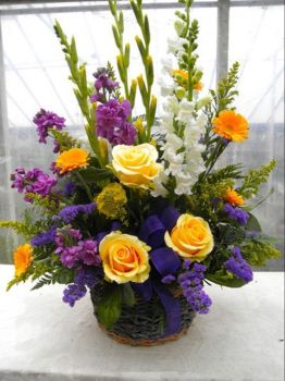 Happiness is....A Gorgeous Colourful Floral Arrangement.