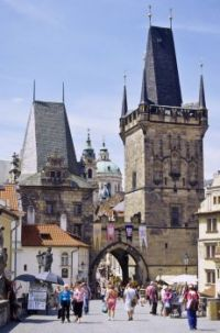 Prague. Charles Bridge, the western towers