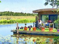 Houseboat with a view.