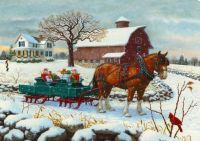 Presents Arriving by Sleigh