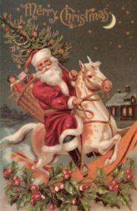 Santa On A Rocking Horse