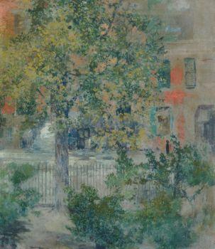 View from the Artist's Window, Grove Street, Robert Frederick Blum