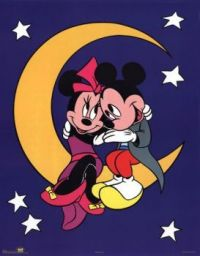 mickey & mouse minnie over the moon