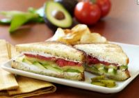 Fresh Avocado Grilled Cheese Sandwich