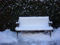 Sneeuwwit bankje