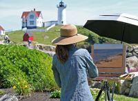 Artist at Nubble Lighthouse, York, ME