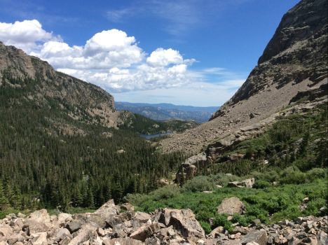 RMNP - looking out from below Sky Pond
