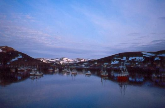 Midnight at Hammerfest harbour