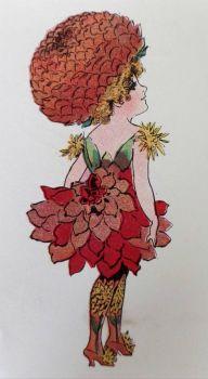 Madame Dahlia. Flower Children. Elizabeth Gordon 1910
