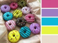 Brightly-Coloured Donuts