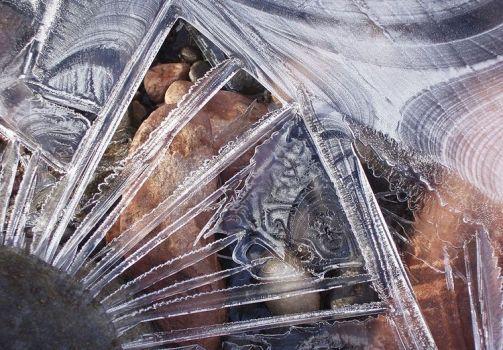 Ice crystals on Oak Creek