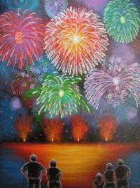 folk art fireworks