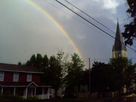 Rainbow over the church I attend