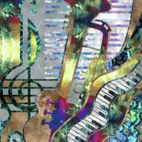 Abstract Music & Art Collage -mixed media - Lioudmila Perry, Artist