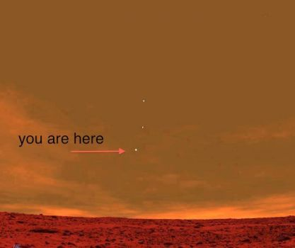 Earth seen from Mars on Saturday