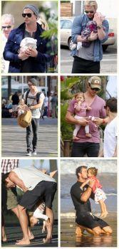 C Hemsworth and daughter India