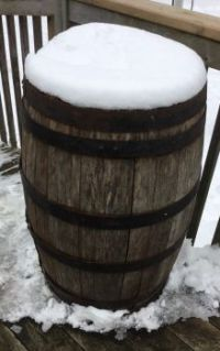 Barrel in the Snow