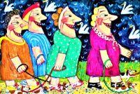 The Ladies Often Met to Walk Their Tiny Dogs