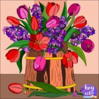 Tulips and Lilacs--Perfect Spring Bouquet