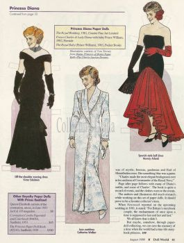 HRH Princess Diana paper doll