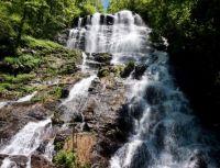 Amicalola Falls, near Dawsonville, GA, stands tall at 729 feet . .
