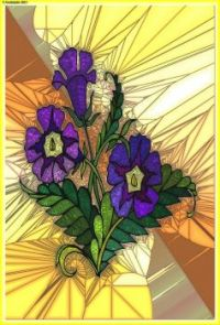 STAINED GLASS FLOWER A48