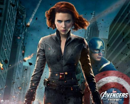 Avengers - Widow & Cap