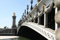 Under the bridges of Paris...Here the Alexander III bridge.
