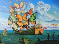 Ship with butterfly sails, Salvador Dali, 1937!!
