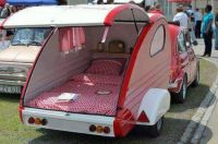 Wow, nice little teardrop trailer.