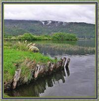 Hipaua Steaming Cliffs seen from Tokaanu Lakeside.