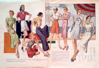 Double Page Fashion from Record Fashions Pattern Magazine