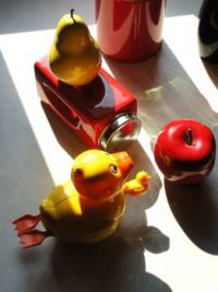 Still life with yellow duckie