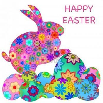 8593102-happy-easter-bunny-rabbit-with-colorful-floral-eggs-illustration