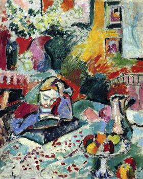 Woman reading by Henri Matisse.