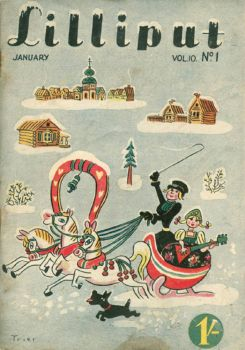 Vintage Lilliput Mag. Cover  ~  1942 January