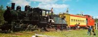 The old 102 Steam Locomotive at Harbour Inn (bandit) on this train in this post card!