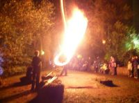 Fire blowing